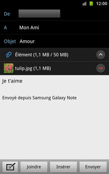 Samsung N7000 Galaxy Note - E-mail - envoyer un e-mail - Étape 11