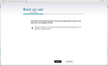 Nokia 216 - Software - Back-up maken of terugplaatsen - Stap 3