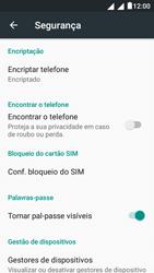 """Alcatel Pixi 4 (5"""") - Segurança - Como ativar o código PIN do cartão de telemóvel -  5"""