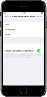 Apple iPhone X - Applications - Créer un compte - Étape 9