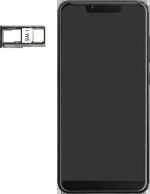 Wiko View 2 Plus - Appareil - comment insérer une carte SIM - Étape 4
