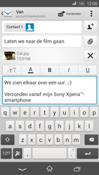 Sony Xperia E4g (E2003) - E-mail - Bericht met attachment versturen - Stap 14