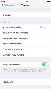 Apple iPhone 7 Plus - Segurança - Como ativar o código PIN do cartão de telemóvel -  4