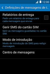 Samsung Galaxy Young II - SMS - Como configurar o centro de mensagens -  9