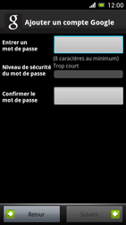 Sony Ericsson Xpéria Arc - Premiers pas - Créer un compte - Étape 14