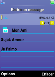Bouygues Telecom Bc 101 - Contact, Appels, SMS/MMS - Envoyer un MMS - Étape 16