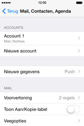 Apple iPhone 4s iOS 8 - E-mail - Account instellen (IMAP met SMTP-verificatie) - Stap 29