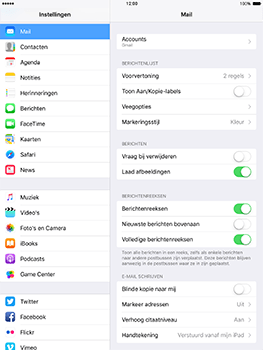 Apple iPad Mini 3 iOS 10 - E-mail - Handmatig instellen - Stap 31