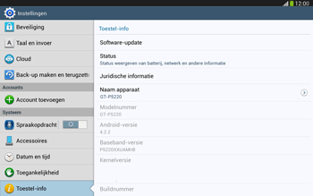 Samsung P5220 Galaxy Tab 3 10-1 LTE - Software updaten - Update installeren - Stap 5