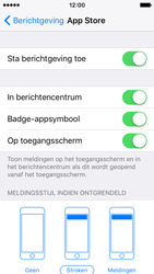 Apple iPhone SE - iOS 10 - iOS features - Bewerk meldingen - Stap 6