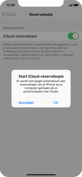 Apple iPhone XS - Data - Maak een back-up met je account - Stap 11