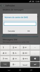 Sony Xperia E4 - SMS - Como configurar o centro de mensagens -  7
