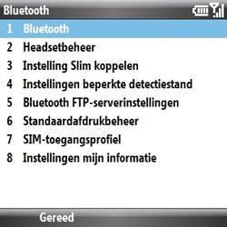 Samsung B7330 Omnia Pro - Bluetooth - headset, carkit verbinding - Stap 6