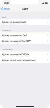 Apple iPhone XS - E-mail - Configuration manuelle - Étape 6