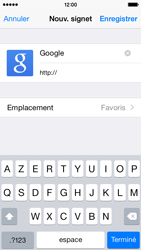 Apple iPhone 5s - iOS 8 - Internet - navigation sur Internet - Étape 6