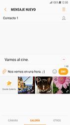 Samsung Galaxy S6 - Android Nougat - Mensajería - Escribir y enviar un mensaje multimedia - Paso 13