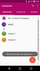 Sony F8331 Xperia XZ - Contactgegevens overzetten - delen via Bluetooth - Stap 11