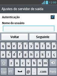 LG E430 Optimus L3 II - Email - Como configurar seu celular para receber e enviar e-mails - Etapa 18