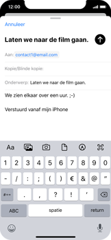 Apple iphone-x-met-ios-13-model-a1901 - E-mail - Hoe te versturen - Stap 8