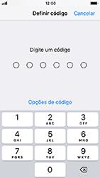 Apple iPhone 5s - iOS 12 - Segurança - Como ativar o código de bloqueio do ecrã -  5