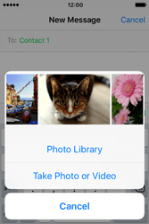 Apple iPhone 4 S iOS 9 - Mms - Sending a picture message - Step 8
