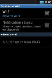 Samsung Galaxy Ace - Internet et connexion - Accéder au réseau Wi-Fi - Étape 6