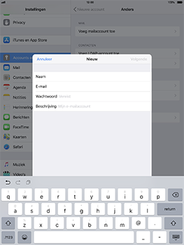 Apple iPad Pro 10.5 inch - iOS 11 - E-mail - Account instellen (IMAP met SMTP-verificatie) - Stap 8