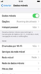 Apple iPhone 5s - iOS 12 - Internet no telemóvel - Como ativar os dados móveis -  5