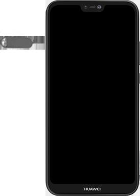 Huawei P20 lite - Premiers pas - Insérer la carte SIM - Étape 2