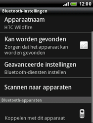 HTC A3333 Wildfire - Bluetooth - headset, carkit verbinding - Stap 7