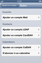 Apple iPhone 4 - E-mail - Configurer l