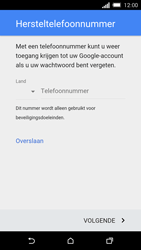 HTC One M8s (Model 0PKV100) - Applicaties - Account aanmaken - Stap 11