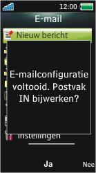 Sony Ericsson U10i Aino - E-mail - Handmatig instellen - Stap 12