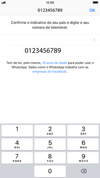 Apple iPhone 6s Plus - iOS 12 - Aplicações - Como configurar o WhatsApp -  9