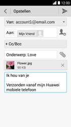Huawei Ascend Y530 - E-mail - Bericht met attachment versturen - Stap 13