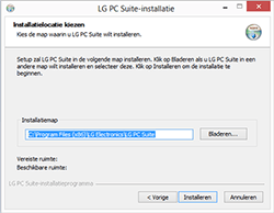 LG Leon 3G (LG-H320) - Software - PC-software installeren - Stap 5