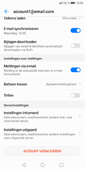 Huawei P Smart (Model FIG-LX1) - E-mail - Instellingen KPNMail controleren - Stap 17