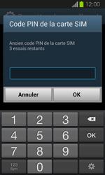 Samsung Galaxy Express - Sécuriser votre mobile - Personnaliser le code PIN de votre carte SIM - Étape 7
