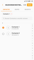 Samsung Galaxy S6 - Android Nougat - Mensajería - Escribir y enviar un mensaje multimedia - Paso 7