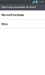 LG Optimus L5 II - E-mail - Configurar correo electrónico - Paso 5