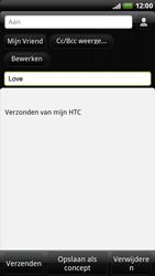 HTC X515m EVO 3D - E-mail - E-mails verzenden - Stap 7