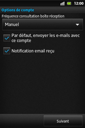 Sony ST27i Xperia Go - E-mail - Configuration manuelle - Étape 13
