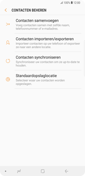 Samsung galaxy-note-9-sm-n960f - Contacten en data - Contacten kopiëren van SIM naar toestel - Stap 7