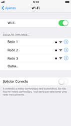 Apple iPhone iOS 11 - Wi-Fi - Como configurar uma rede wi fi - Etapa 5