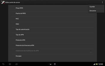 Sony Xperia Tablet Z - Mensajería - Configurar el equipo para mensajes multimedia - Paso 16
