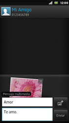 Sony Xperia U - Mensajería - Escribir y enviar un mensaje multimedia - Paso 15