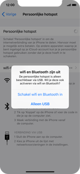 Apple iPhone X - WiFi - WiFi hotspot instellen - Stap 7