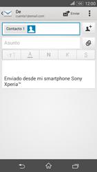 Sony Xperia E4g - E-mail - Escribir y enviar un correo electrónico - Paso 8
