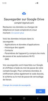 Samsung Galaxy S10 - Données - créer une sauvegarde avec votre compte - Étape 10