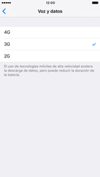 Apple iPhone 6s iOS 10 - Red - Seleccionar el tipo de red - Paso 6